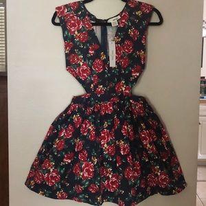 Sans Souci V-neck Dress with Cutouts